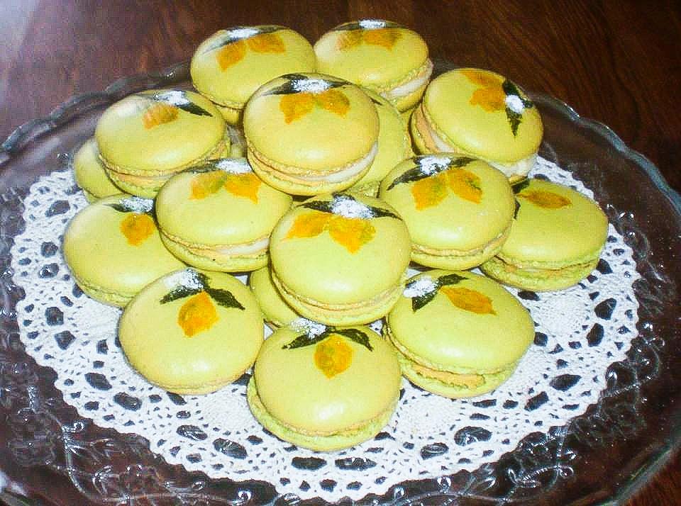 citronove makronky