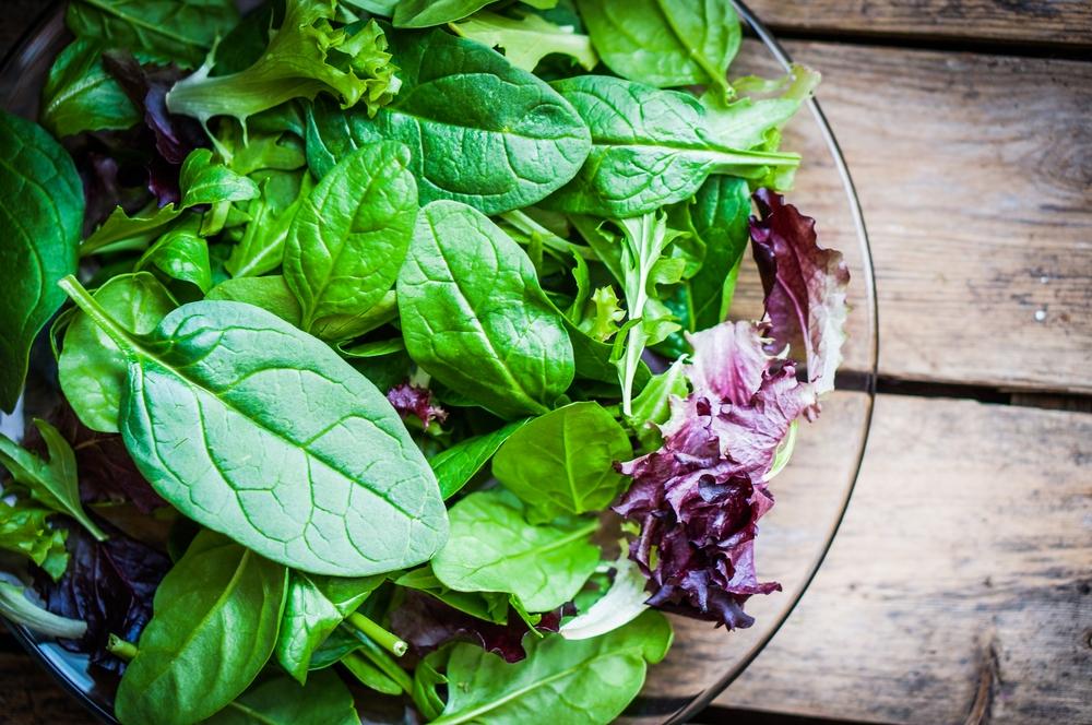 Špenát, rukola, salát, zdraví, zelenina
