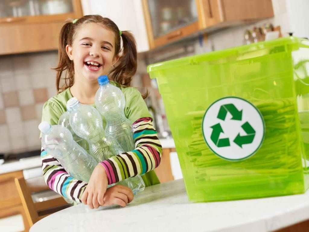 Děti, třídení, recyklace, odpad