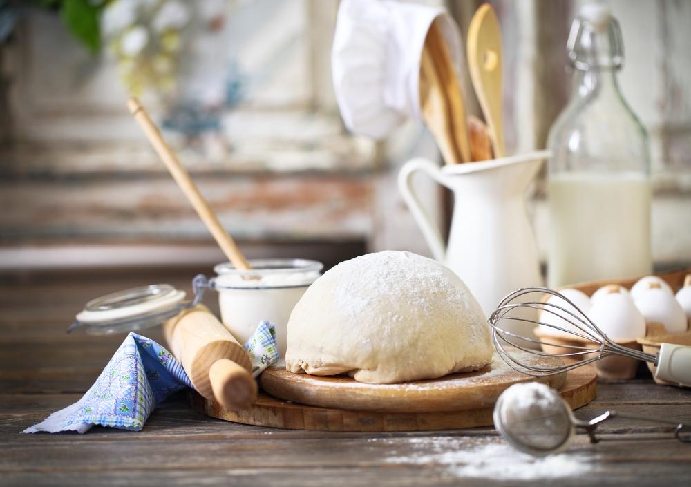 Kuchyň, příprava, nádobí, pečení, těsto