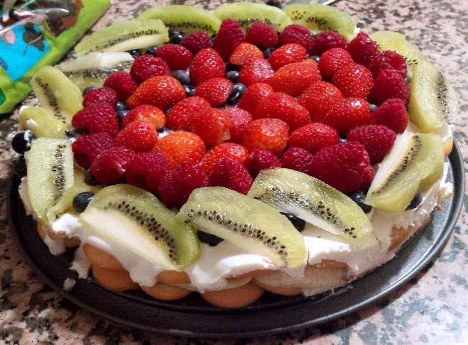 letni nepeceny dort