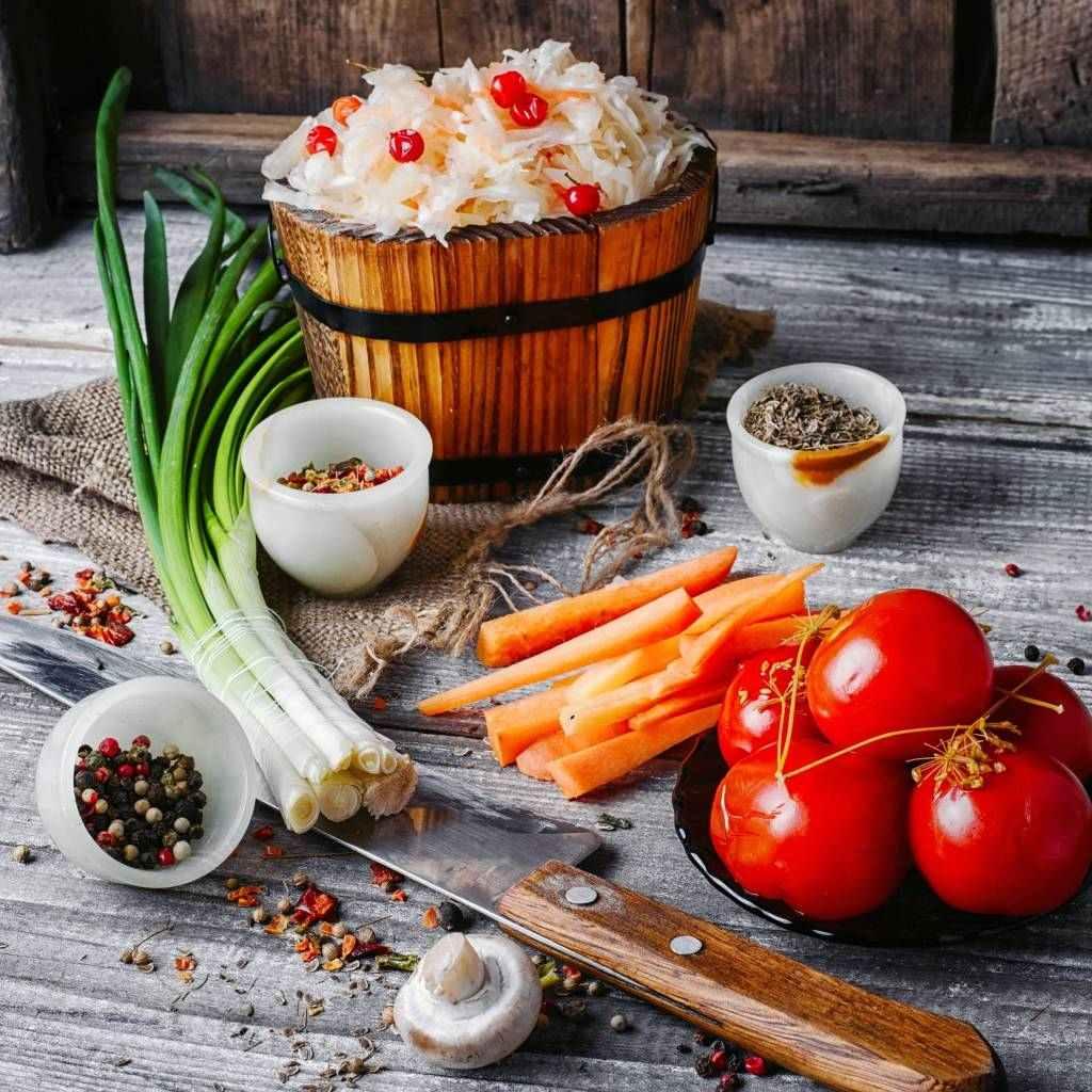 nakládání, zelenina, nůž