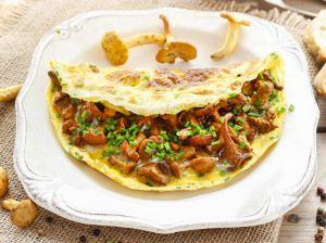 Omeleta s liškami: snídaně s vůní lesa