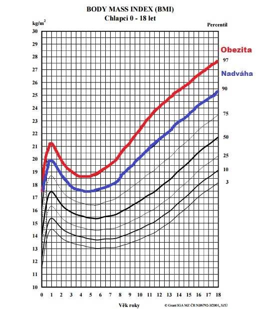Graf BMI chlapci