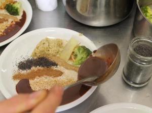 Rýžová kaše s čokoládovou polevou
