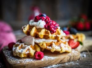 Snídaně do postele: Valentýnské vafle