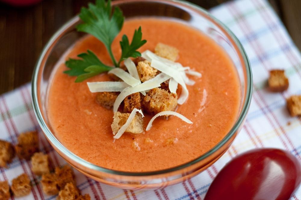 Krémová polévka z mrkve, řepy a batát
