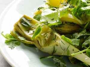 Zeleninový salát s artyčoky