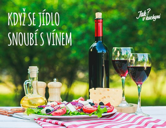Když se jídlo snoubí s vínem