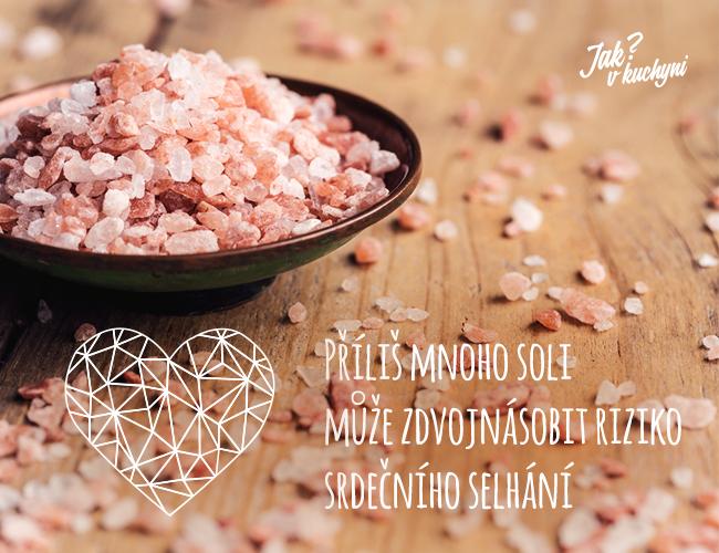 Příliš mnoho soli může způsobit srdeční selhání