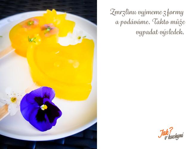 Zmrzlina s kvety