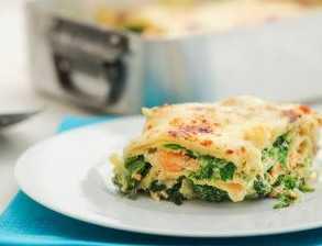 Lososové lasagne se špenátem