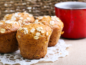 Jablečné muffiny bez tuku a přidaného cukru