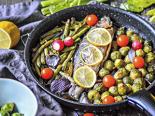 Pečený pstruh se zeleninou