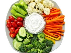 Zeleninové hranolky a dip