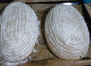 Kváskový chléb z ošatky