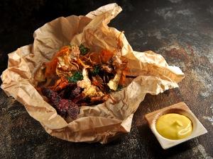 Spirálová pochoutka aneb smažené slupky z kořenové zeleniny