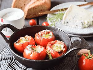 Rajčata po provensálsku s gorgonzolou