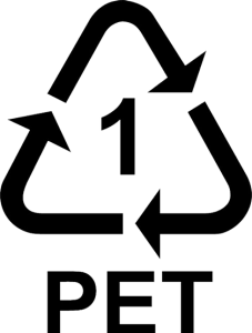 Recyklační symbol PET1