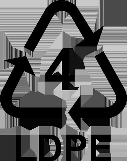 Recyklační symbol LDPE 4