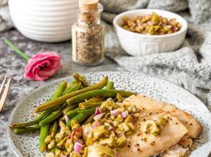 Rybí filety s olivovou salsou