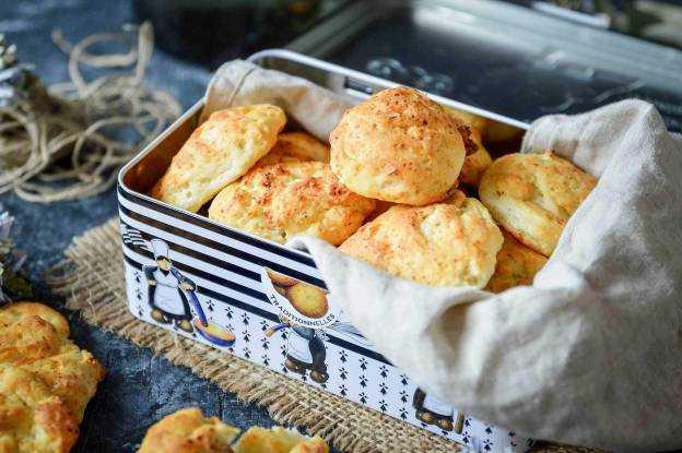 Slané sušenky se sýrem Cottage