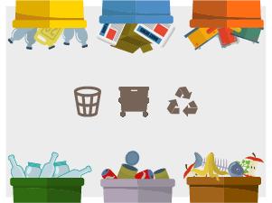 Infografika o obsahu odpadkového koše