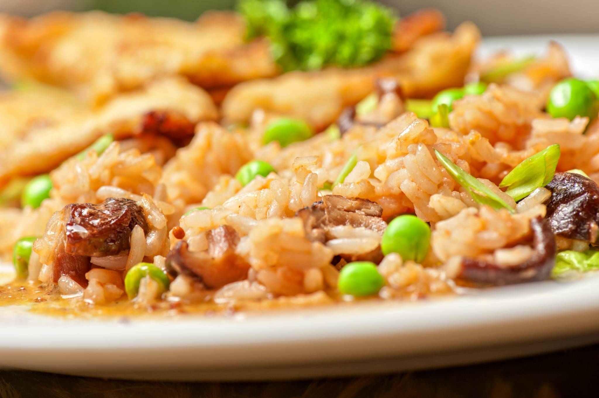 Rýže s pórkem a mandlemi