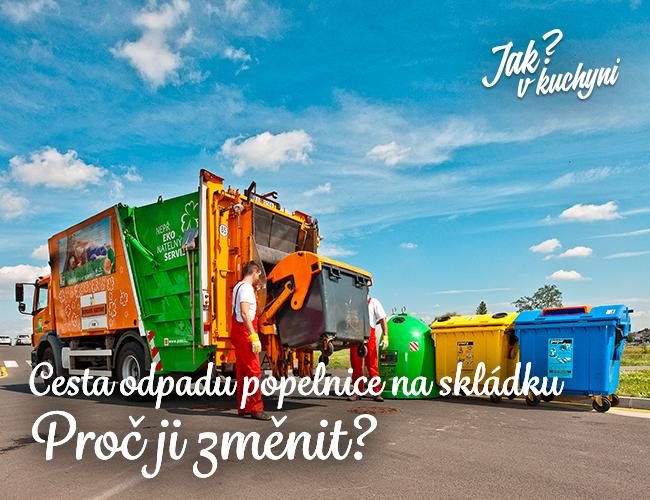 Cesta odpadu popelnice na skládku