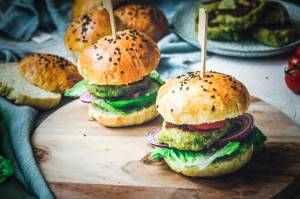 Křupavý vegetariánský hamburger