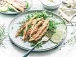 Křupavý obalovaný chřest se svěžím salátem