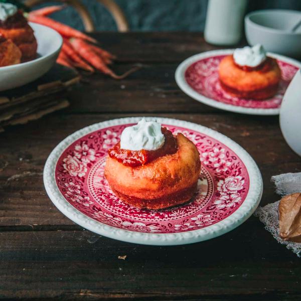 Bramborové vdolky s mrkvovou marmeládou