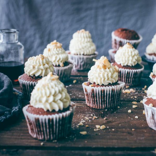 Fíkové cupcakes s banánem